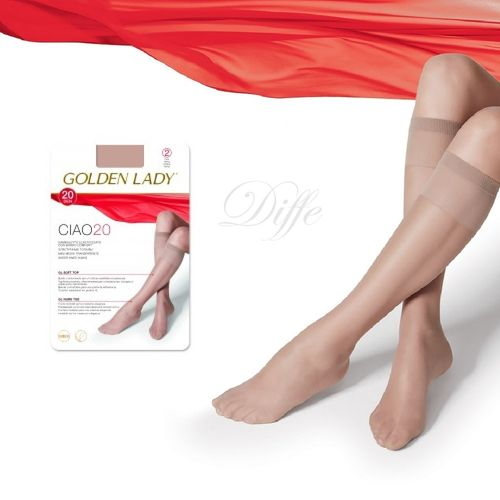 GOLDEN LADY Minimedias puntera invisible 20 den 2 pares